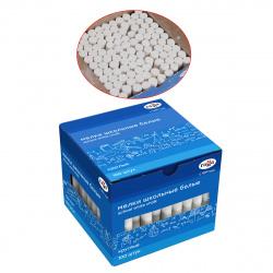 Мел белый, 100шт, d-10мм, форма круглая, картонная коробка Гамма 2308194