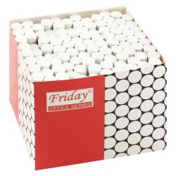 Мел белый, 100шт, d-10мм, форма круглая, картонная коробка КОКОС 170396 FRIDAY