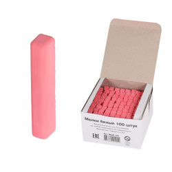 Мел цветной 100шт d-10мм Алгем МШЦК-100 красный картонная коробка