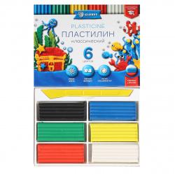 Пластилин 6 цветов 120гр Globus Классический со стеком картонная коробка ПЛ6-06К
