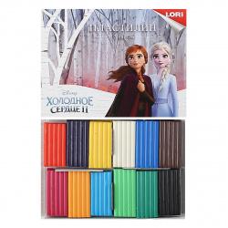 Пластилин 12 цветов 180гр Lori Disney Холодное сердце 2 со стеком картонная коробка Плд-023