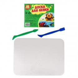 Доска для лепки А5 Проф-Пресс пластик ДЛ-4993 белая