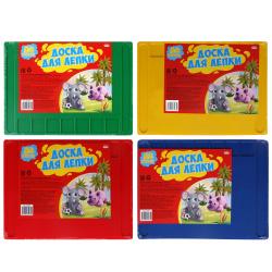 Доска для лепки А4, пластик, с выемками, цвет ассорти Проф-Пресс ДЛ-4985
