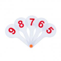 Веер-касса цифр до 9 облегчен Пчелка Ц-11 европодвес