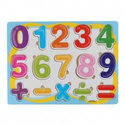 Цифры и знаки деревянный Рыжий кот Учимся считать. Пазл-рамка Веселый счет G245