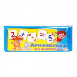 Арифметика в карточках на магнитах 72шт Десятое королевство 00249