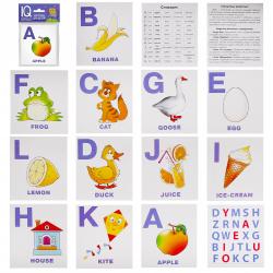 Развивающие карточки 14шт Айрис-пресс English Алфавит Часть 1 80*90мм 25927