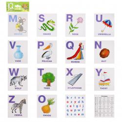 Развивающие карточки 14шт Айрис-пресс English Алфавит Часть 2 80*90мм 25929