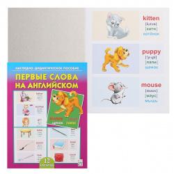 Развивающие карточки картон Рыжий кот ПД-7035