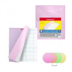 Обложка п/п 212*347мм 100мкм набор 12шт для тетр и дневников Erich Krause Fizzy Neon 49916 прозр