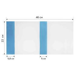 Обложка п/э 220*450мм для учеб универсальная цветн клапан У22У/У22