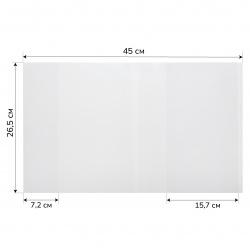 Обложка для учебников, универсальная, полиэтилен, 265*450мм, 100мкм, цвет прозрачный, клеевой край Муличенко С.Г. С265