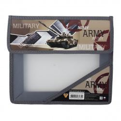 Папка для тетрадей А5 пластик липучка 2 отделения Сила армии Пчелка ПМ-А5-36