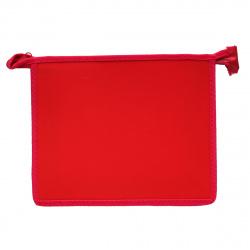 Папка для тетрадей А5 пластик молния сверху 1 отделение Пчелка ПМ-А5-00 красная