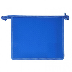 Папка для тетрадей А5 пластик молния сверху 1 отделение Пчелка ПМ-А5-00 синяя