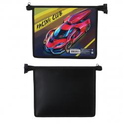 Папка для тетрадей А5 пластик/картон молния сверху 1 отделение Racing Clab Пчелка ПМ-А5-291