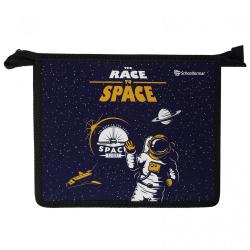 Папка для тетрадей А5, пластик, картон, на молнии сверху, для мальчиков Race to space SchoolФОРМАТ ПТПМ1А5-РТС