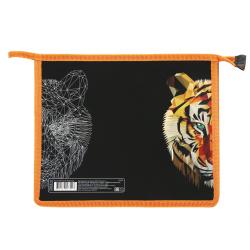Папка для тетрадей А5, пластик, картон, на молнии сверху, для мальчиков Wild Tiger КОКОС 215205