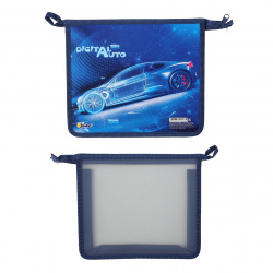 Папка для тетрадей А5 пластик молния сверху 1 отделение Digital auto Оникс ПТ-715 62103