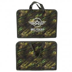 Сумка-портфель пластиковая с ручками 24*34*4 молния Камуфляж Оникс ПТ-14 56752