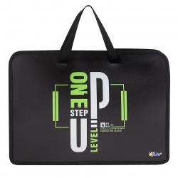Сумка-портфель пластиковая с ручками 24*34*4 молния Cat princess Оникс ПТ-14 62020