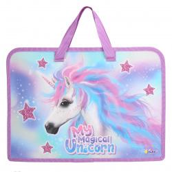 Сумка-портфель пластиковая с ручками 24*34*4 молния Черный кот Оникс ПТ-14 62036