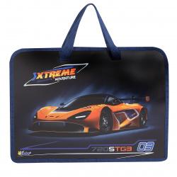 Сумка-портфель пластиковая с ручками 24*34*4 молния Auto orange Оникс ПТ-14 62042
