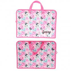 Сумка-портфель пластиковая с ручками 24*34*8 молния Весна винтаж Оникс ПТ-14-4 58506