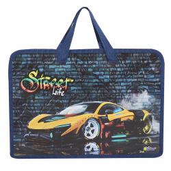 Сумка-портфель пластиковая с ручками 24*34*8 молния Cat princess ПТ-14-4 Оникс 62017