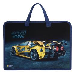 Сумка-портфель пластиковая с ручками 24*34*8 молния Cool llama ПТ-14-4 Оникс 62023