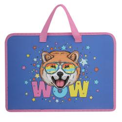 Сумка-портфель пластиковая с ручками 24*34*8 молния Красная машина ПТ-14-4 Оникс 62029