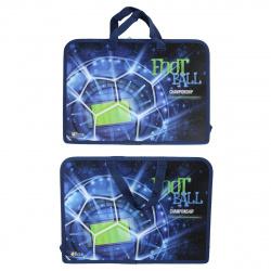 Сумка-портфель пластиковая с ручками 24*34*8 молния Арена ПТ-14-4 Оникс 62032