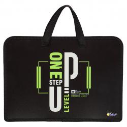 Сумка-портфель пластиковая с ручками 24*34*8 молния Тропики Оникс ПТ-14-4 62174