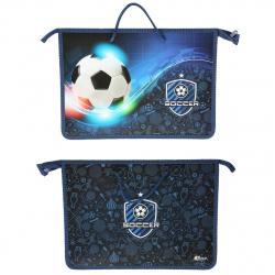 Сумка-портфель пластиковая с ручками 24*34*4 молния Энергия футбола Оникс ПТ-15/57903