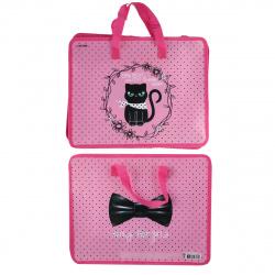Сумка-портфель пластиковая с ручками 26*33*8 молния Fashion Kitty deVENTE 8053050