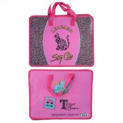 Сумка-портфель пластиковая с ручками 26*33*8 молния Leopard deVENTE 8053066