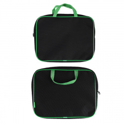 Сумка-портфель ткань с ручками 26*34*7 молния Менеджер Оникс ПМД 2-42/56861 черно-салат