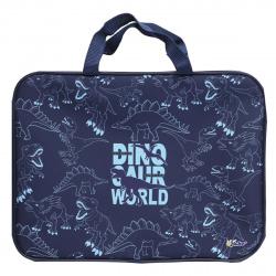 Сумка-портфель ткань с ручками 26*34*7 молния Менеджер Планета динозавров Оникс ПМД 4-20/61953