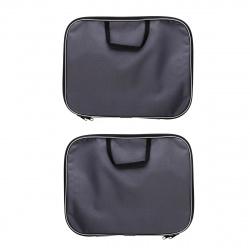 Сумка-портфель ткань с ручками 26*34*2 молния Менеджер deVENTE 3075603 сер