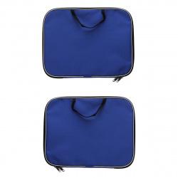 Сумка-портфель ткань с ручками 26*34*2 молния Менеджер deVENTE 3075601 син