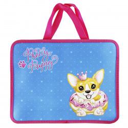 Сумка-портфель пластиковая с ручками 26*33*10 молния Pretty Puppy КОКОС 210382