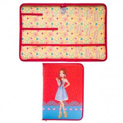 Папка для труда А4 ламинир картон молния вокруг Модница в платье Пчелка ПТР-7