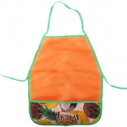 Фартук для труда полиэстер, 390*490мм, карманы, для девочек Бананы кокосы Пчелка ФДТ-5