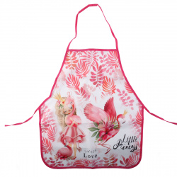 Фартук для труда полиэстер, 460*540мм, для девочек Красивый Фламинго Пчелка ФДТ-33
