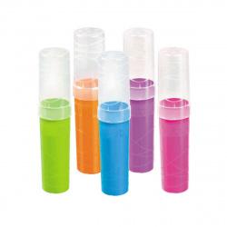 Пенал-тубус пластик 19,5*4,5 Стамм Intensive ПН38 прозрачный/цветной