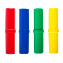 Пенал-тубус пластик 18*4*4 Проф-Пресс ПН-5451 ассорти 4 вида