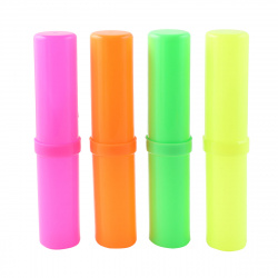 Пенал-тубус пластик 18*4*4 Проф-Пресс Стандарт плюс ПН-0495 ассорти 4 вида