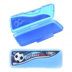 Пенал Крутой футбол футляр, пластик, 1 отделение, 80*200*25мм, на защелке, для мальчиков Проф-Пресс ПН-6933