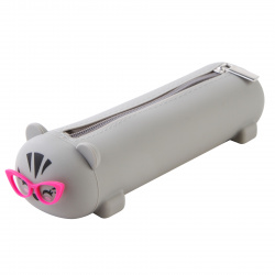 Пенал силикон, 1 отделение, фигурный, 65*200*45мм, пластиковая коробка Cat Summer Time deVENTE 7027025