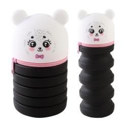 Пенал силикон, 1 отделение, фигурный, 65*200*65мм, пластиковая коробка Panda 100% Cute. deVENTE 7027013